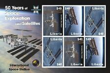 Liberia- Space/International Space Station Sheet of 6 Mnh
