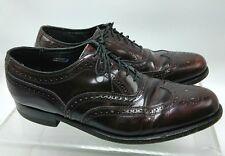FLORSHEIM Mens size 8.5 D Burgundy Wingtip Oxford Dress Shoes