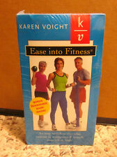 KAREN VOIGHT Ease Into Fitness exercise VHS new 1999 resistance band NWT