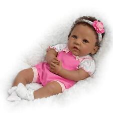 Weighted African American Silicone TASHA 18'' Baby Girl Doll: Ashton-Drake
