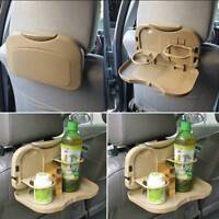 Folding Auto Car Back Seat Table Drink Food Cup Tray Holder Stand Desk Universal