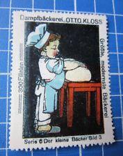 Cinderella/Poster Stamp - Germany Kloss Dampfbäckerei Baker Boy 3731