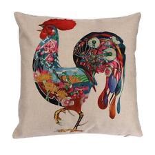 Pillow Case Home Sofa Waist Throw Linen Blend Patterns Cushion Cover Decor N1