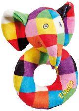Rainbow Designs Elmer El Elefante Anillo Sonajero Bebé Juguetes Actividades BN