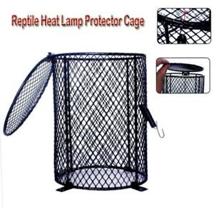 Round Reptile Heat Lamp Light Bulb Mesh Cage Protector Guard