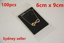 100 Display Cards Black 6x9cm Earring Pendant Chain Jewellery + 100p 7x10cm Bags