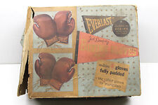 Vintage Everlast Boxing Glove Set Jack Dempsey Youngsters Padded 2 Pair+Orig Box