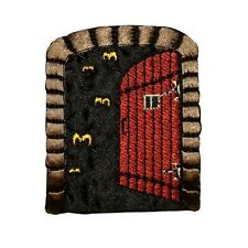 ID 0864 Creepy Basement Door Patch Halloween Scary Embroidered Iron On Applique