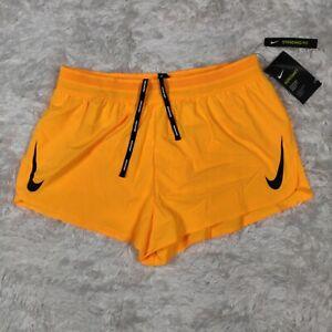 "$80 NEW Mens Nike Aeroswift Running Racing Shorts Orange 2"" AQ5257 845 Large L"