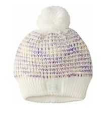 704cfa18676 Under Armour UA Girl s Speckle Cable Knit Pom Top Purple White Beanie