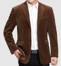 GENTS Mens Jackets Corduroy Coats Dad's Two Button Casual Blazers Spring Outwear