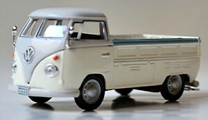 VW Volkswagen T1 Flatbed Truck Pick-Up 1951-67 Gray & White 1:43