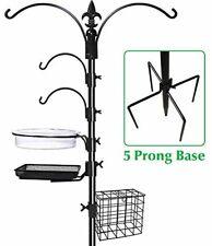 Bird Feeder Pole Wild Bath Squirrel Proof Seed Station Hanging Garden - New .
