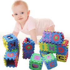 36pcs Baby Kids Alphanumeric Educational Puzzle Blocks Infant Child Toy Cartoon
