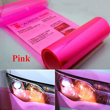 30 x 120cm Pink Film Tint Car Van Headlight Fog Tail light Lamp Vinyl Wrap Sheet