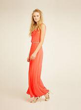 miss selfridge plisse v neck maxi dress size 8 bnwt rrp £55.00