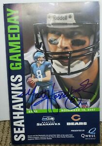 AUTOGRAPH SIGNED SEATTLE SEAHAWKS GAMEDAY PROGRAMS *YOU PICK*