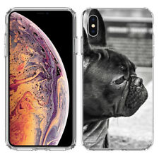 For Apple iPhone Xr French Bulldog Hard Cover Case Phone Protector