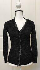 Victorias Secret Womens Fashion Sweater Cardigan Black SP Long Sleeve Button