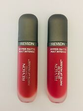 LOT of 2 Different Revlon Ultra HD Matte #805-100°, #815-Red Hot Lipcolor NEW!