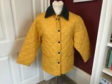 MARINA YACHTING Women's Yellow Quilted Jacket Coat Medium