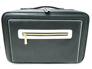 Estee Lauder Spectator Faux Leather Top Handle Double Zip Makeup Case  9X4X14