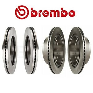Front Rear Vented and Coated Disc Brake Rotors Kit Brembo for Chevy Cadillac GMC