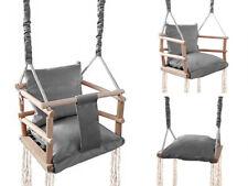 Babyschaukel Kinderschaukel Holz Stoff  Babysitz Baby Schaukel zum Aufhängen 3 i