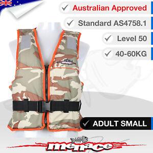 ADULT SMALL Life Jacket PFD3 Water Jet Ski Kayak Lifejacket Type 3 Level 50S