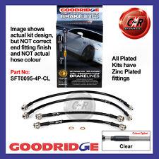 Fiat Seicento 98-10 Goodridge Zincato Trasparente Tubi Freno SFT0095-4P-CL