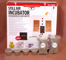 Little Giant Still Air Egg Incubator Kit for Reptiles | Thermometer, substrate