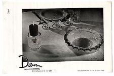 1940 / Publicité pour CRISTALLERIE DAUM / VERRE / CRISTAL / FRLD139