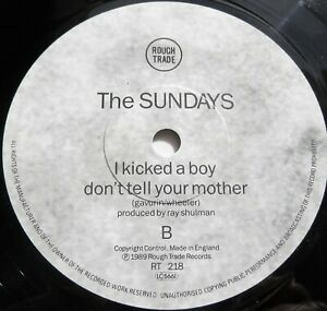 """The Sundays - Can't Be Sure UK 1989 Rough Trade 7"""" Single Misprinted Label"""
