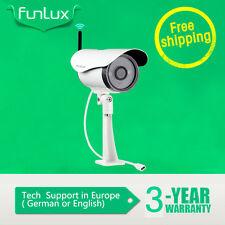 Funlux™ Außen 720P IP Netzwerk Wlan Kamera Überwachungskamera SET Funk Outdoor