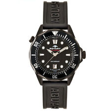 Gents Rotary Aquaspeed black ion-plated watch AGS00069/W/04