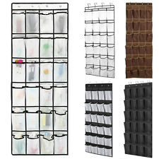 24 Pocket Shoe Organizer Rack Over the Door Hanging Storage Space Tidy Saver