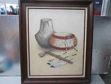 """*** Rare Lydia Cooper Native Indian Painting 21x25"""" ***"""