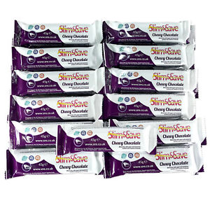 25 Chewy Chocolate LowCarb HighProtein Meal Replacement VLCD Diet Bars Slim&Save