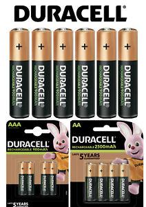 Duracell Power Akkus AAA Micro 900mAh AA Mignon 2500mAh Batterien *aus 2021*