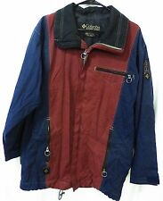 Columbia Convert men small jacket ski snowboard coat blue burgundy