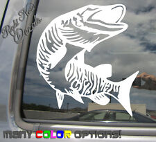 Muskie Fish - Fishing - Auto Window High Quality Vinyl Decal Sticker 01046