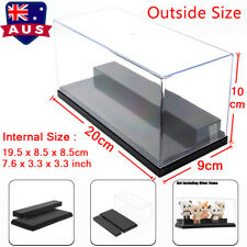 AU Acrylic Display Box Case Plastic Base  2 Steps Clear UV Dustproof Protection