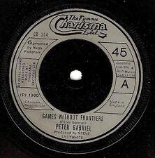 Peter Gabriel Juegos sin fronteras Vinyl Record 7 in (approx. 17.78 cm) carisma CB 354 1980