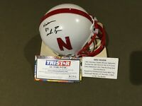 MIKE ROZIER TRISTAR HIDDEN TREASURES AUTO MINI HELMET NEBRASKA CORNHUSKERS