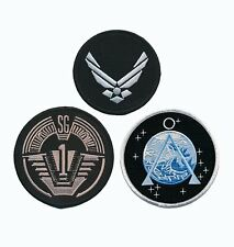 Stargate SG-1 Uniform/Costume Patch Set of 3
