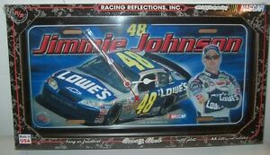 JIMMIE JOHNSON #48 LOWES R&R REFLECTIONS LICENSE PLATE CLOCK NEW!!!!