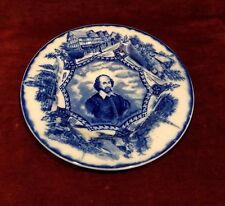 Antique c1891-1907 Wood & Son England Shakespeare Blue Transfer Plate