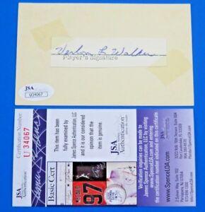 VERLON WALKER SIGNED 3x5 INDEX CARD -1969 CUBS COACH D. 1971 AGE 42 ~ JSA U34067