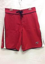 Rip Curl Men's Strainer Board Short Swim Suit Red Black White Sz 34 NEW