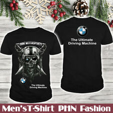 BMW/Never Stop/Men's US T-Shirt/Skull/One Eye Pirate/Logo In The Back/Hot Gift